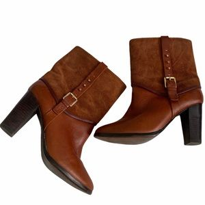 Pegabo Rustic Brown Mid Calf booties Size 8